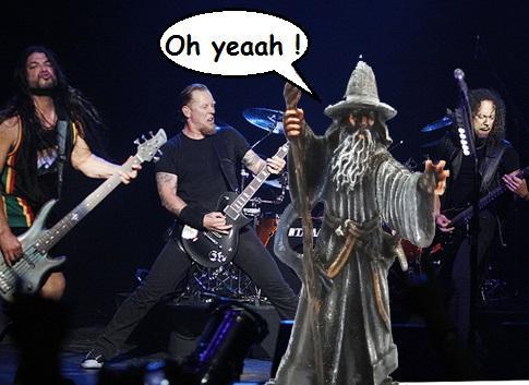 metallica en concert avec Gandalf
